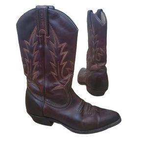 BOULET Brown Cowboy Boots size 6